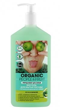"""Гель Эко для мытья посуды """"Органическая дикая мята и лайм"""" ORGANIC PEOPLE&FRUIT"""