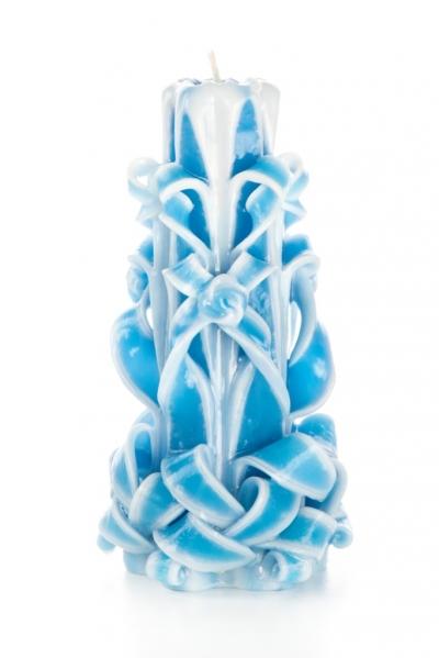 Свеча-резная ручной работы LACE SKY-L (кружева небес), h 16 см TM Aromatte