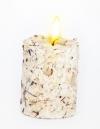 Свеча Эко ручной работы RAFAELLO со стружкой мякоти кокоса и ванилью d8 h10 см/круглая