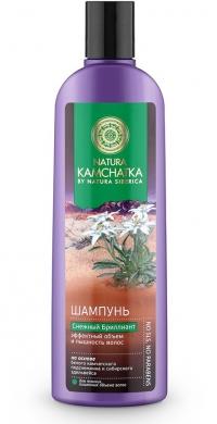 Шампунь «СНЕЖНЫЙ БРИЛЛИАНТ» эффектный объем и пышность волос NATURA KAMCHATKA