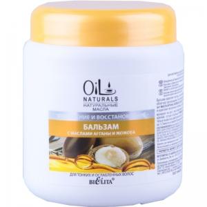 Бальзам для тонких и ослабленных волос Укрепление и Восстановление с маслами АРГАНЫ и ЖОЖОБА Oil Naturals