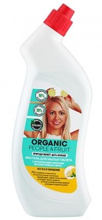 """Гель для мытья туалета ЭКО """"Органические эфирные масла лимона и мяты"""" ORGANIC PEOPLE&FRUIT"""