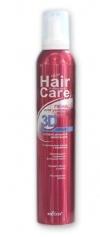ПЕНА для укладки волос 3D объем суперсильной фиксации HAIR CARE