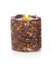 Свеча Эко ручной работы EASY с дробленной скорлупой аниса, d 8 h 8см/ круглая