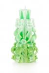 Свеча-резная ручной работы LACE FRESH-L (кружева свежести), h 16 см
