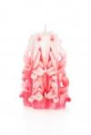 Свеча-резная ручной работы LACE ROSE-M (кружева розы), h 11 см