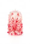 Свеча-резная ручной работы LACE ROSE-S (кружева розы), h 9 см
